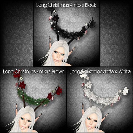 Long Christmas Antlers