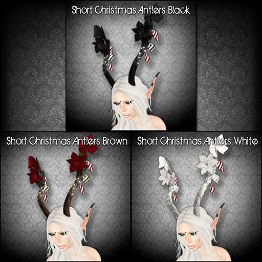 Short Christmas Antlers