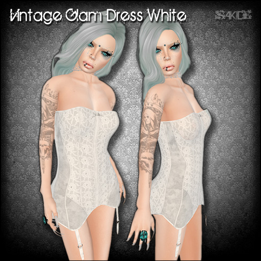 Vintage Glam Dress White for FROST