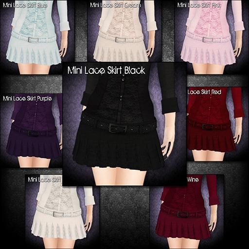 Mini Lace Skirts