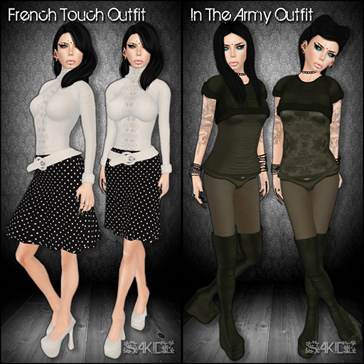 In the Army and French Touch Outfits