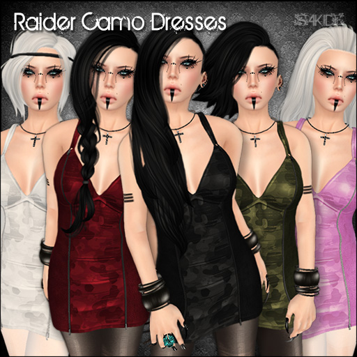 Raider Camo Dresses for Perfect Wardrobe