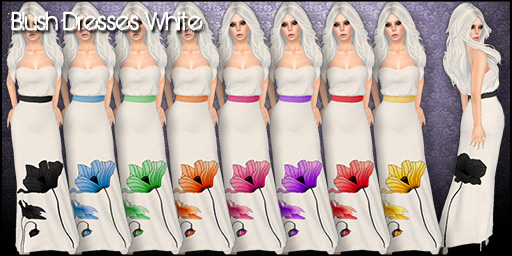 Blush Dresses White - Mainstore