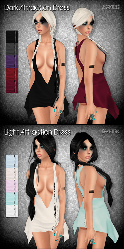 Dark & Light Attraction Dress for Perfect Wardrobe