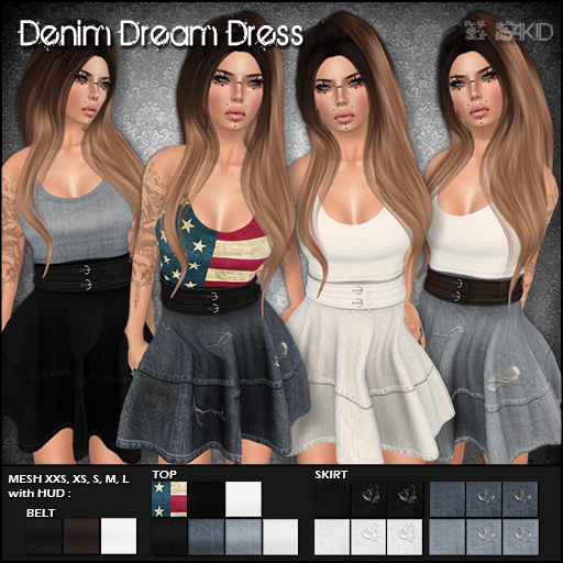Denim Dream Dress for Flux Event