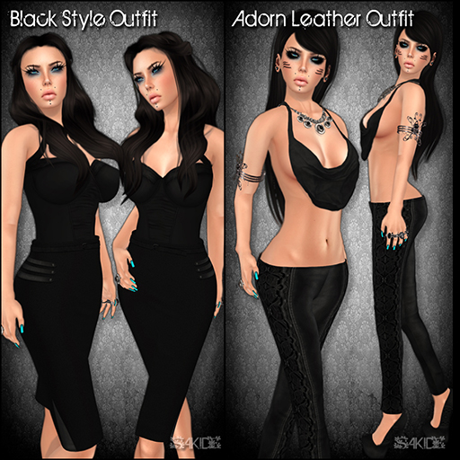 Black Style Outfit and Adorn Leather Outfit