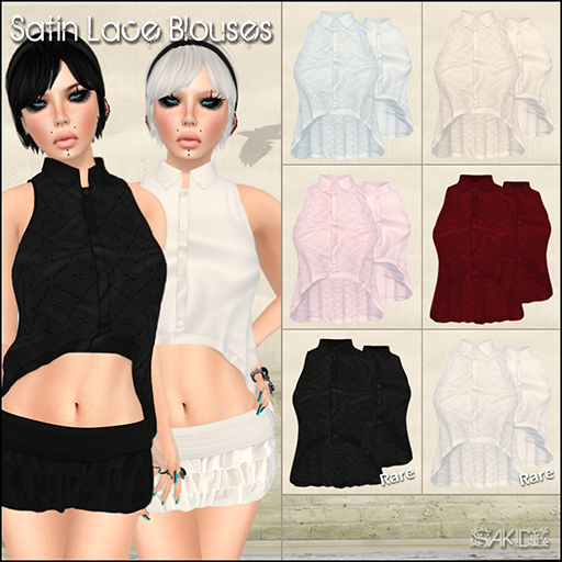 Satin Lace Blouses Gacha for The 24 Event