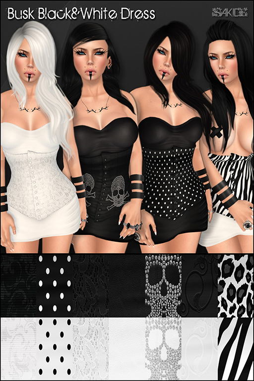 Busk Black&White Dress for Stalkerazzi Fashion Affair