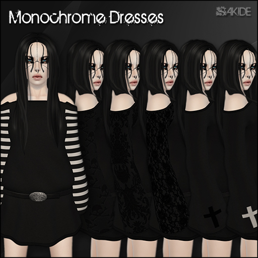 Monochrome Dresses for The Grande Olde Horrorfest Hunt 2013