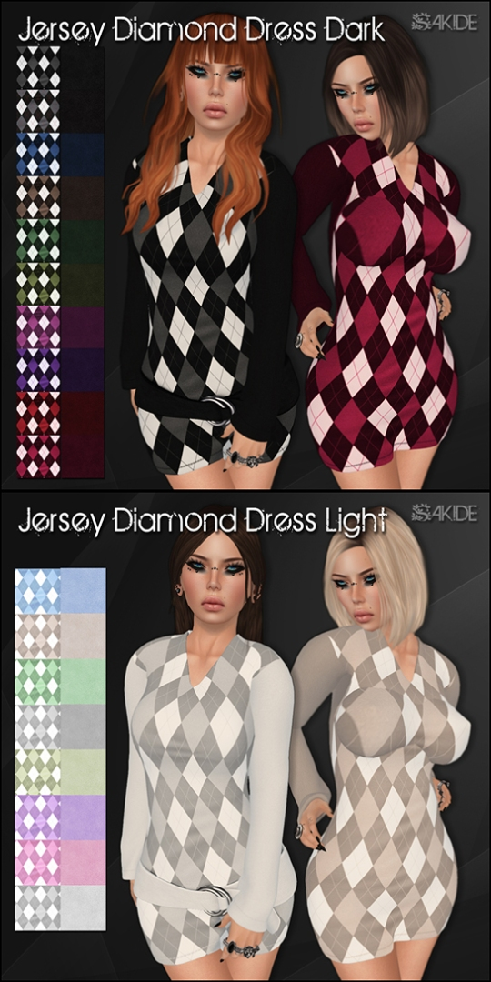Jersey Diamond Dresses for the Thrift Shop 3
