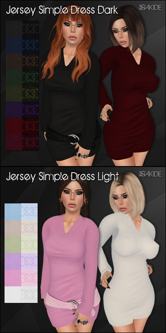 Jersey Simple Dresses for the Thrift Shop 3