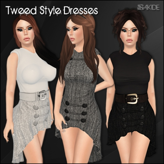 Tweed Style Dresses for Winter Trend SL
