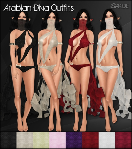 Arabian Diva Outfits for The Fantasy Collective