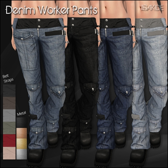 Denim Worker Pants