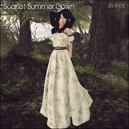 Scarlet Summer Gown for Serafilms