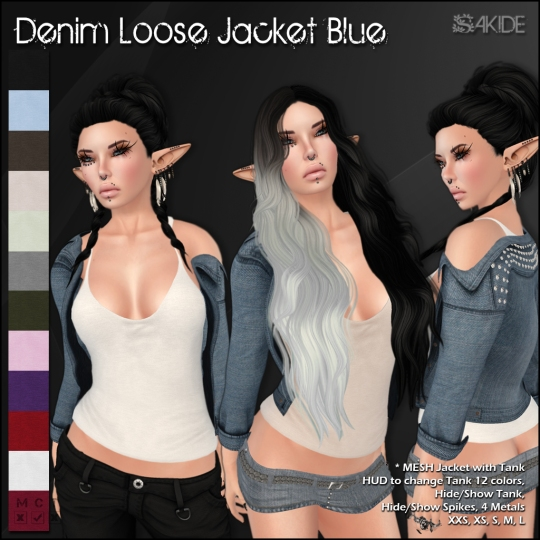 Denim Loose Jackets for Thrift Shop 5