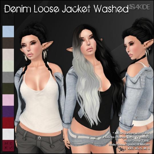 Denim Loose Jackets for Thrift Shop 5
