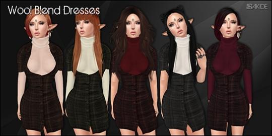 Wool Blend Dresses for SAD November