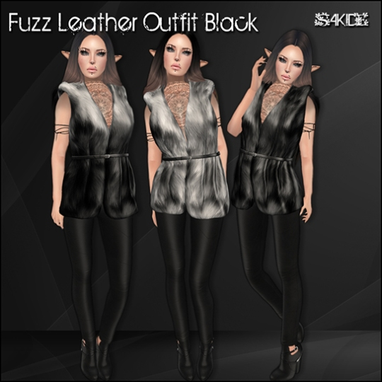 Fuzz Leather Outfits for Winter Trend 2014