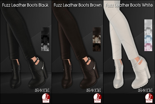 Fuzz Leather Boots for Winter Trend 2014