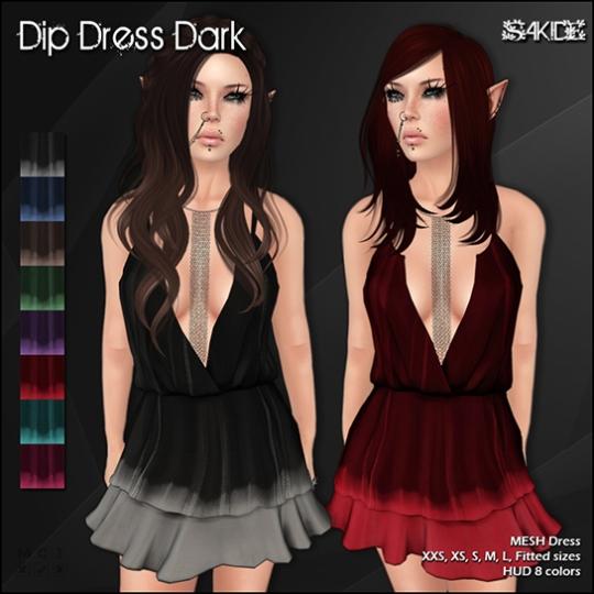 Dip Dress Dark&Light, Bloom Dress and Dots Dress for Thrift Shop 9
