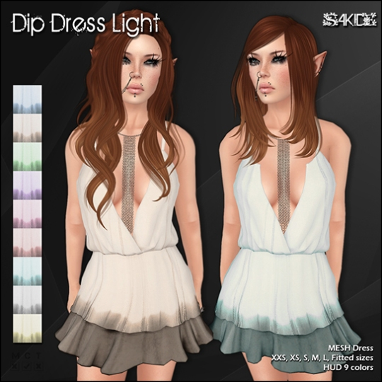Dip Dress Dark&Light, Bloom Dress and Dots Dress for Thrift Shop 9