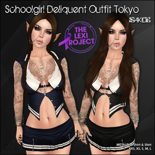 Schoolgirl Deliquent Outfits for The Lexi Project