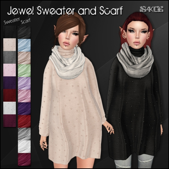 Jewel Sweater and Scarf for Midnight Madness