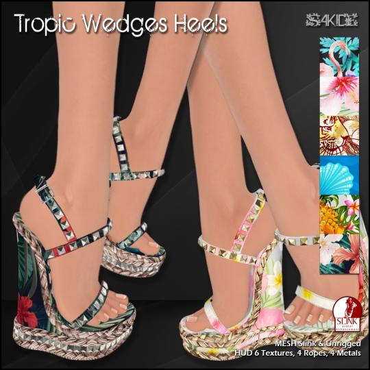 Tropic Wedges Heels
